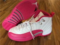 Authentic Air Jordan 12 GS White Dynamic Pink