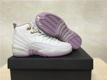 "Authentic Air Jordan 12 GS Heiress ""Plum Fog"""