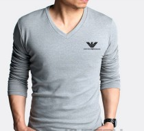 Armani Long V Neck Men T-shirt-11