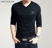 Armani Long V Neck Men T-shirt-10