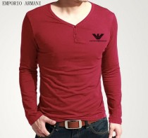 Armani Long V Neck Men T-shirt-8