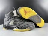 Air Jordan 5 X Off White Shoes Black