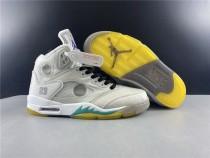 Air Jordan 5 X Off White Shoes White