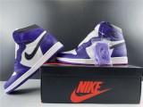 Air Jordan 1 Court Purple Shoes
