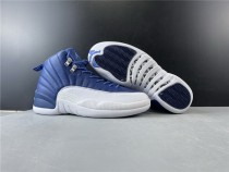 Air Jordan 12 Retro Stone Blue Shoes