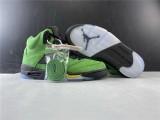 Air Jordan 5 Oraegon Shoes green