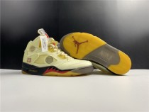 Air Jordan 5 X Off White Shoes Sail