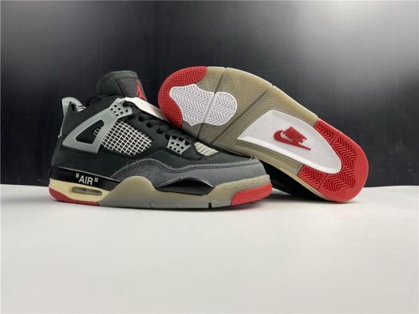 Off-White Air Jrodan 4 Bred Shoes