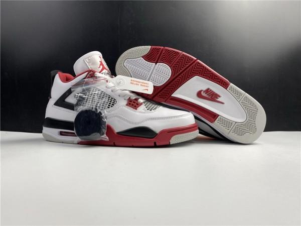 Air Jrodan 4 Fire Red Shoes (Nike Pair)