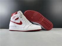 Air Jordan 1 Retro White Red Shoes
