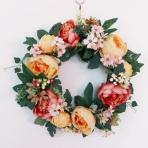 Home Decor Simulation Flowers Artificial Wreath Floral Door Wedding Wall Hanging Simulation Wreath Simulation Wreath Hanging Doo
