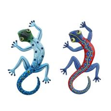 1PC Iron Art Gecko Pendant Delicate Gecko Wall Hanging Crafts Household Gecko Hardware Pendant Village Gecko Hanging Pendant