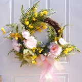 Hand-made Christmas decoration Rich peony wreath hanging wall decoration Yingchunhua   Free Shipping