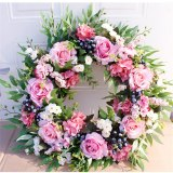 56cm / 22 inch Rose Garland Wall Decoration Hanging Door Decoration Wall Decoration For Wedding Decoration Family Party