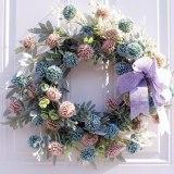 Artificial Hydrangea Flower Wreath Home Garden Front Door Walls Window Hanging Fake Flower Garland for Wedding Decoration Floral