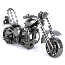 2Color Vintage Motorcycle Model Retro Motor Figurine Iron Motorbike Prop Welding crafts Boy Gift Kids Toy Home Office Decoration