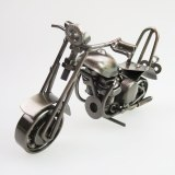 Creative Metal Crafts Furnishing Iron Motorcycle Model Design Birthday Gift Home Decortaion Accessories Figurines 15x6x7.5cm