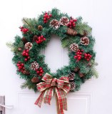 Hot Sale Christmas Wreath Artificial Plant Rattan Circle Wall Decoration Simulation Fake Flower Door Hanging Wreath For Home