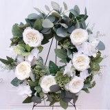 Handmade Floral Wreath Door Rose Wreath Artificial Peony Wreath for Front Door Decorations Wall Decor