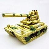 Vintage 3D Handmade Classic Tank Model Panzer Decoration Weapon Ornament Tiger Tank Artwork Bullet Shell Display Souvenirs Gift