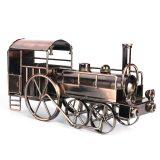 Classical 3D Handmade Train Model Matel Iron Horse Decoration Car Artwork Steam Train Ornament Souvenirs Dispaly Children Toy