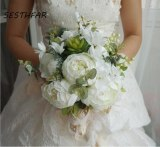 Wedding Bride Bouquet Realistic Hand Tied Flower Decoration Holiday Party Supplies European chaise longue roses wedding flowers