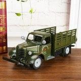 Vintage 3D Handmade Car Model Pick-up Decoration Military Vehicle Ornament Truck Display Automobile Automotive Artwork Iron Car