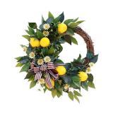 Simulated Lemon Wreath Wall Hanging Lemon Garland Decor Creative Lemon Hanging Garland Artificial Plants Wreath Pendant