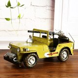 Classical 3D Handmade Car Model Military Vehicle Decoration Panzer Ornament Armored Car Artwork Machine Gun Carriage Cannon Toy