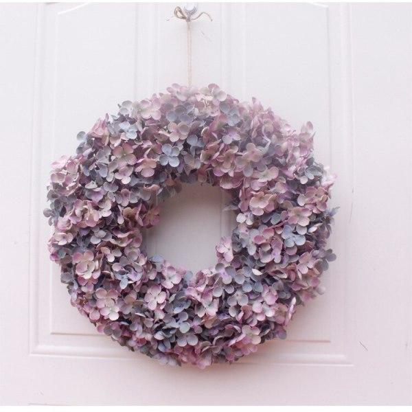 Floral Artificial Rose Wreath Door Hanging Wall Window Decoration Wreath Holiday Festival Wedding Decor