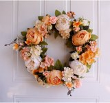 Peony Wreaths Floral Hoop Garland Wedding Decoration Household Wall Hanging Flowers