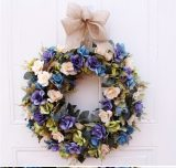 High Quality Artificial Simulation Peony Floral Door Wall Hanging Flower Wreath For Home Wedding Party Decor