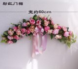 European style garland for wedding wall decoration artificial flower decoration door hanging garland wholesale with ribbon