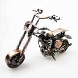 Classical 3D Handmade Motor Model Scrambling Motorcycle Decoration Simulation Motorbike Ornament Racing Motorcycle pattern Toy