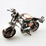 Classical 3D DIY Handmade Motor Model Car Ornament Motorbike Decoration Motorcycle Dispaly Souvenir Gift Copper Plate Iron Metal