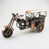 Classical 3D Handmade Car Model Motor Ornament Motorbike Decoration Plate Copper Iron Material Motor Tricycle Simulation Toy 1KG