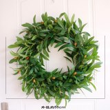 40cm Summer simulation green Olives Garland  Welcome Front  Door Wreath Housewarming Festival celebration Gifts dropshipping