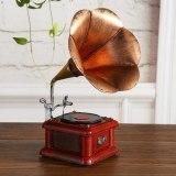 Classical 3D DIY Handmade Vintage Gramophone Model Phonograph Decoration Iron Material Music Machine Ornament Souvenir Gift 0.8k