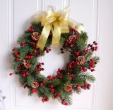 45cm Simulation Christmas pine branch Garland thanksgiving Wreath home decoration Welcome Front Door Wreath Housewarming Gifts