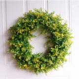 45cm Christmas simulation Green leaf Garland  Welcome Front  Door Wreath Housewarming party Festival celebration Gifts