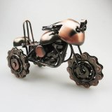 Vintage 3D Handmade Motorbike Model Motorcycle Decoration Classic Motor tricycle Ornament Beach Motorcycle Table Display Gift