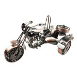 Vintage 3D Handmade Iron Make Simulation Motorbike Decoration Home Cafe Office Artwork Ornament Motorcycle Model Motor Tricycle