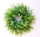 Persian Leaf Grass Ring Artificial Garland Doors and Windows Decoration Party Home Decoration Christmas Wreath Halloween