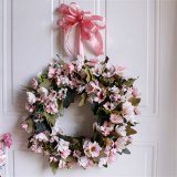 Door Wreath Artificial Flower Wreath Wall Hanging Door Decoration Home Decoration Farmhouse Deocr Little daisy artificial flower