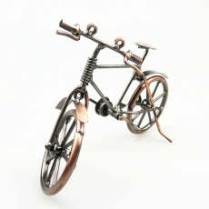 Vintage 3D Handmade Iron Material Home Cafe Ornament Classic Car Jewelry Bicycle Decoration Bike Model Push Cycle Diy Toy Gift