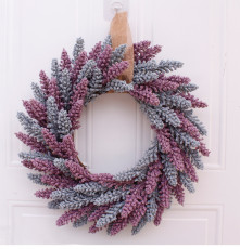 46cm Door Wreath Large Garland Artificial Flower Wreath Wall Hanging Door Decoration Home Decoration Farmhouse Decor
