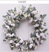 Copy Artificial Flower Light Pink Peony Wreath Decorated for Hallowee Home Wedding Garden Party Decor Wreath Hanging Door Silk Flower