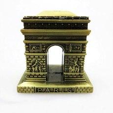 Classical 3D Handmade Tower Model Construction Ornament Arc de Triomphe Decoration Artwork Souvenirs Gift Triumphal Arch Symbol