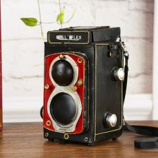 Classical 3D DIY Handmade Vintage Camera Model Iron Material Cafe Ornament Dining room Decoration Simulation Camcorder Artwork