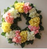 Spring hydrangea Wreath Decorated for Hallowee Home Wedding Garden Party Decor Wreath Hanging Door Silk Flower